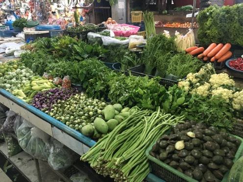 Vegetables in the markets,
